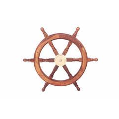 Benzara Bologna Ship Wheel, Beguiling And Glorious Naval Decor