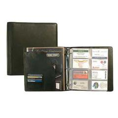 Bond Street Deluxe Black Leather Business Card Case By Bond Street