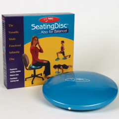 """FitBALL FitBALL Seating Disc  15""""  Iridescent Blue  (Retail Box)"""
