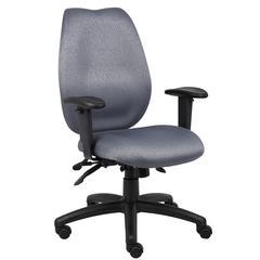 Boss Grey High Back Task Chair W/ Seat Slider