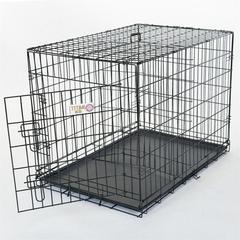 "Majestic 30"" Single Door Folding Dog Crate By Majestic Pet Products-Medium"