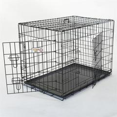 "42"" Double Door Folding Dog Crate By Pet Products-Large"