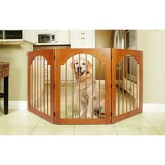 Universal Free Standing Pet Gate (Wood insert & Cherry Stain)