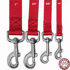 Majestic 5/8in x 6ft Lead Red By Majestic Pet Products