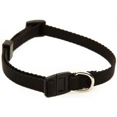 8in - 12in Adjustable Safety Cat Collar Black By Pet Products