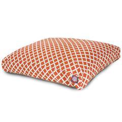 Burnt Orange Bamboo Medium Rectangle Pet Bed