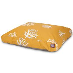 Yellow Coral Medium Rectangle Pet Bed