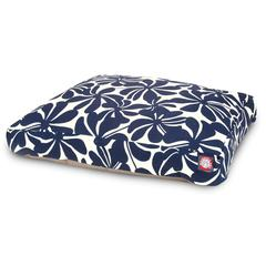 Navy Blue Plantation Medium Rectangle Pet Bed