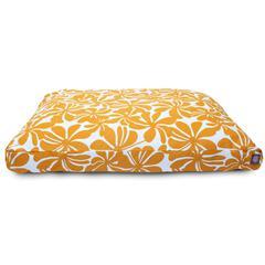 Yellow Plantation Medium Rectangle Pet Bed