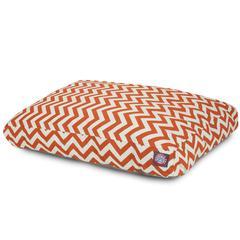 Burnt Orange Chevron Medium Rectangle Pet Bed