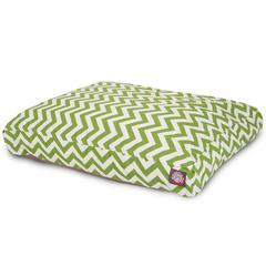 Sage Chevron Medium Rectangle Pet Bed