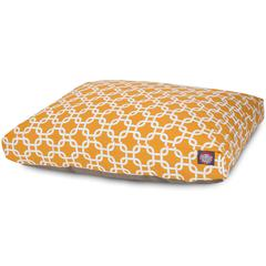 Yellow Links Medium Rectangle Pet Bed