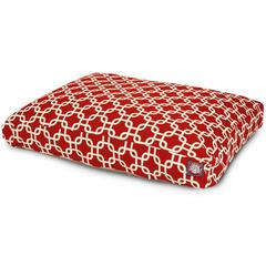 Majestic Red Links Medium Rectangle Pet Bed