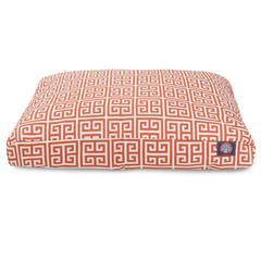 Orange Towers Medium Rectangle Pet Bed