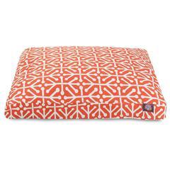 Majestic Orange Aruba Medium Rectangle Pet Bed