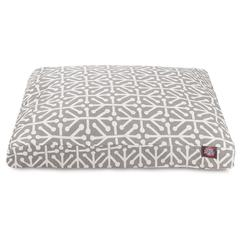 Gray Aruba Medium Rectangle Pet Bed