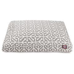 Majestic Gray Aruba Medium Rectangle Pet Bed