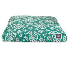 Majestic Jade Raja Small Rectangle Pet Bed