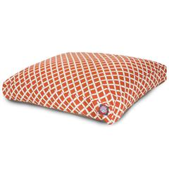 Majestic Burnt Orange Bamboo Large Rectangle Pet Bed