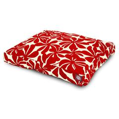 Red Plantation Large Rectangle Pet Bed