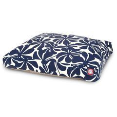 Navy Blue Plantation Large Rectangle Pet Bed