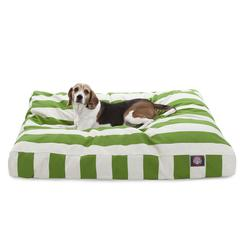 Majestic Sage Vertical Stripe Large Rectangle Pet Bed