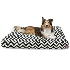 Black Chevron Large Rectangle Pet Bed