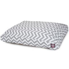 Gray Chevron Large Rectangle Pet Bed