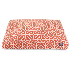 Majestic Orange Aruba Large Rectangle Pet Bed