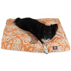 Majestic Peach Raja Medium Rectangle Pet Bed