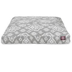 Gray Raja Medium Rectangle Pet Bed