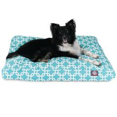 Majestic Teal Links Large Rectangle Pet Bed
