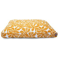 Yellow Plantation Extra Large Rectangle Pet Bed