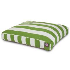 Sage Vertical Stripe Extra Large Rectangle Pet Bed