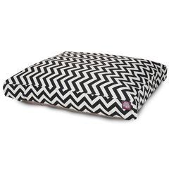Black Chevron Extra Large Rectangle Pet Bed