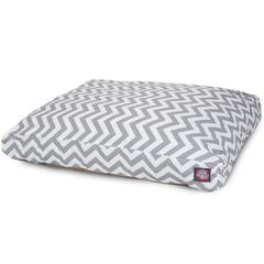 Gray Chevron Extra Large Rectangle Pet Bed