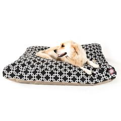 Majestic Black Links Extra Large Rectangle Pet Bed