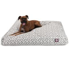 Gray Aruba Extra Large Rectangle Pet Bed