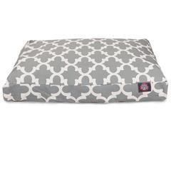Gray Trellis Extra Large Rectangle Pet Bed