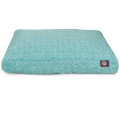 Teal Navajo Extra Large Rectangle Pet Bed