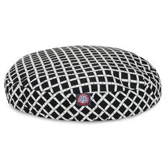 Majestic Black Bamboo Small Round Pet Bed