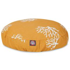 Majestic Yellow Coral Small Round Pet Bed