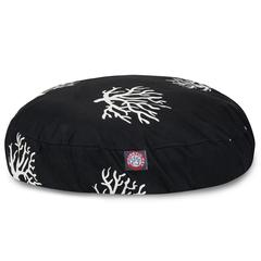 Majestic Black Coral Small Round Pet Bed