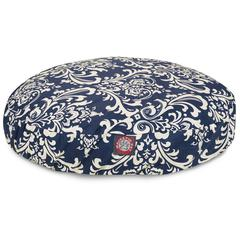 Majestic Navy Blue French Quarter Small Round Pet Bed