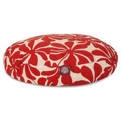 Red Plantation Small Round Pet Bed