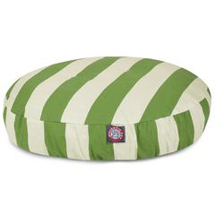 Sage Vertical Stripe Small Round Pet Bed