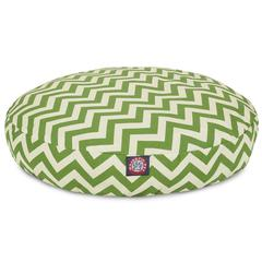 Majestic Sage Chevron Small Round Pet Bed
