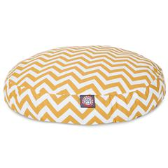 Yellow Chevron Small Round Pet Bed