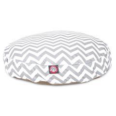 Majestic Gray Chevron Small Round Pet Bed