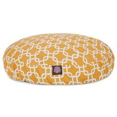 Majestic Yellow Links Small Round Pet Bed